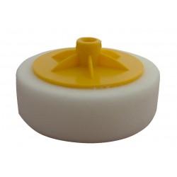 Polishing disc with thread, white