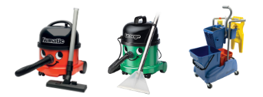 Vacuum cleaners, wet cleaning trolleys Numatic